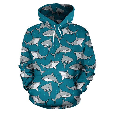 Circling Sharks Pullover Hoodie