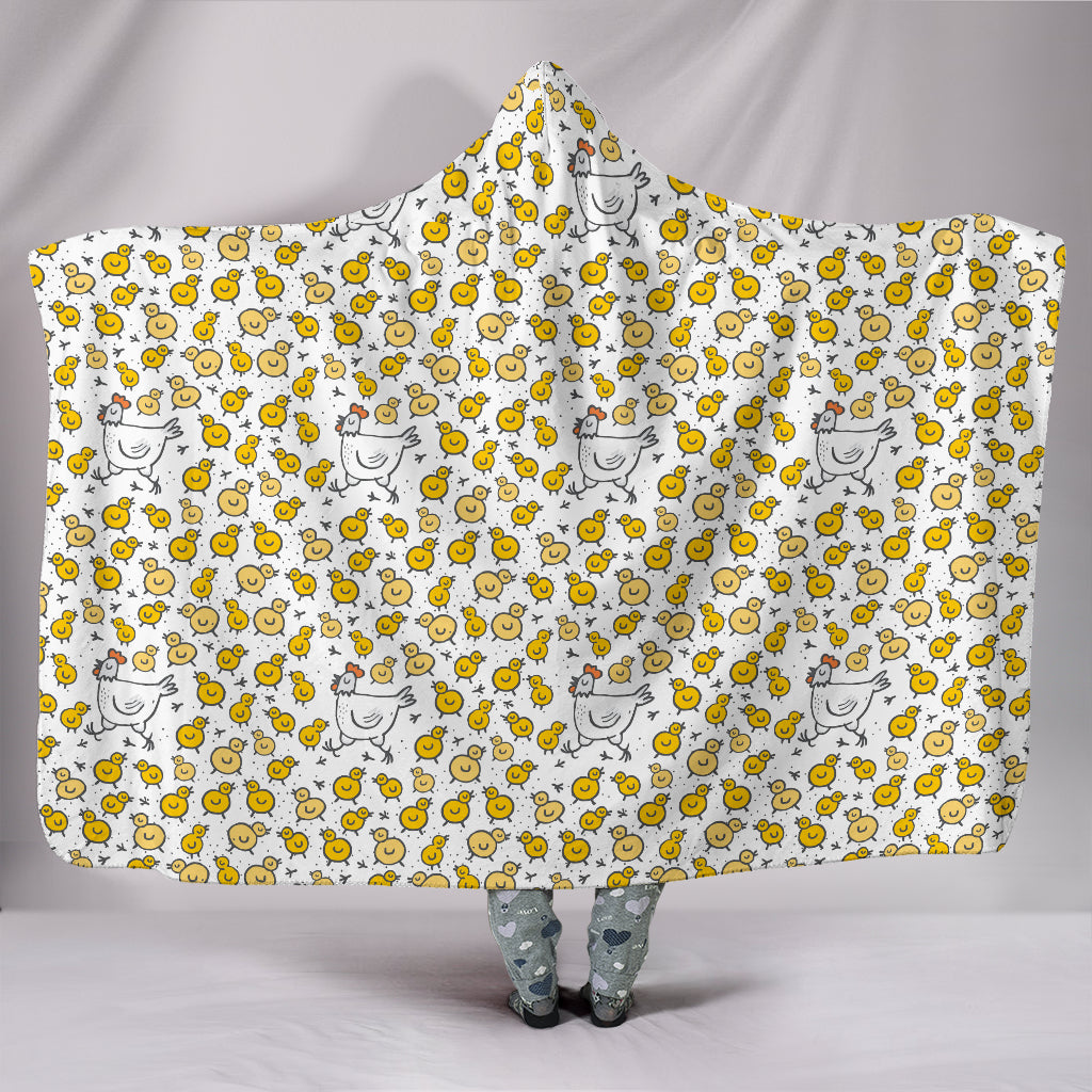 Chickens & Chicks Hooded Blanket