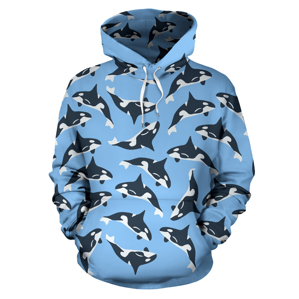 Jumping Orcas Pullover Hoodie