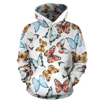 Butterfly Pullover Hoodie - 24 Style
