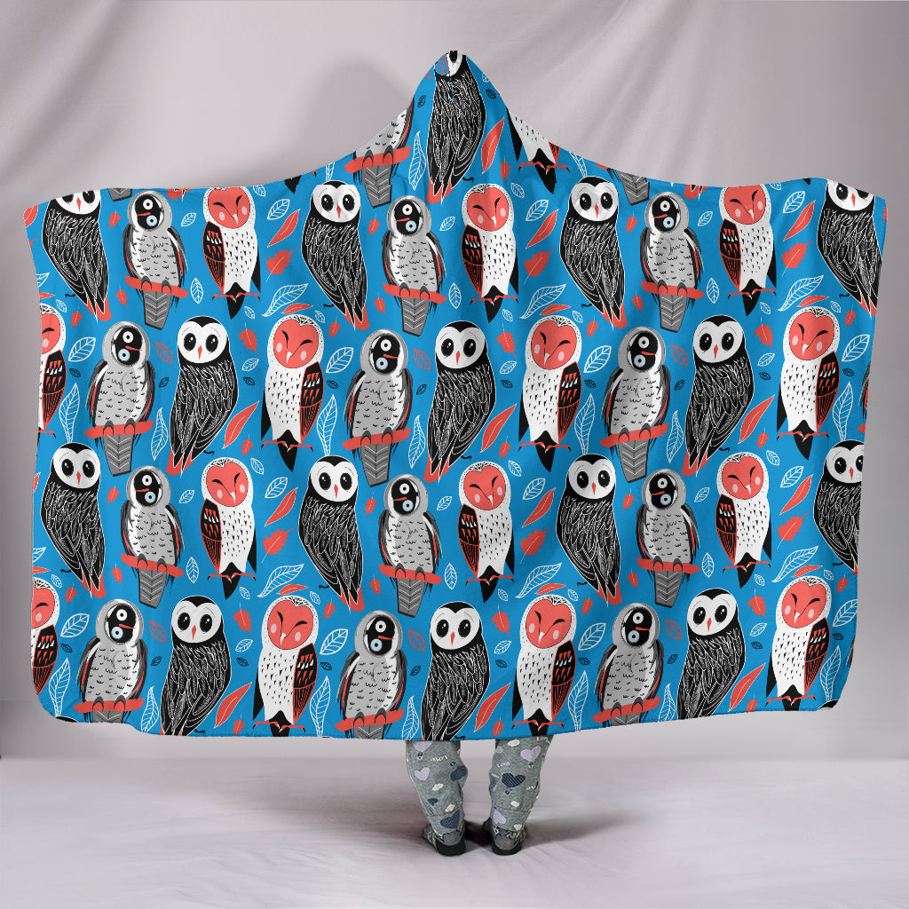 Owls Hooded Blanket