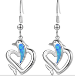 Dolphin Blue Opal Earrings