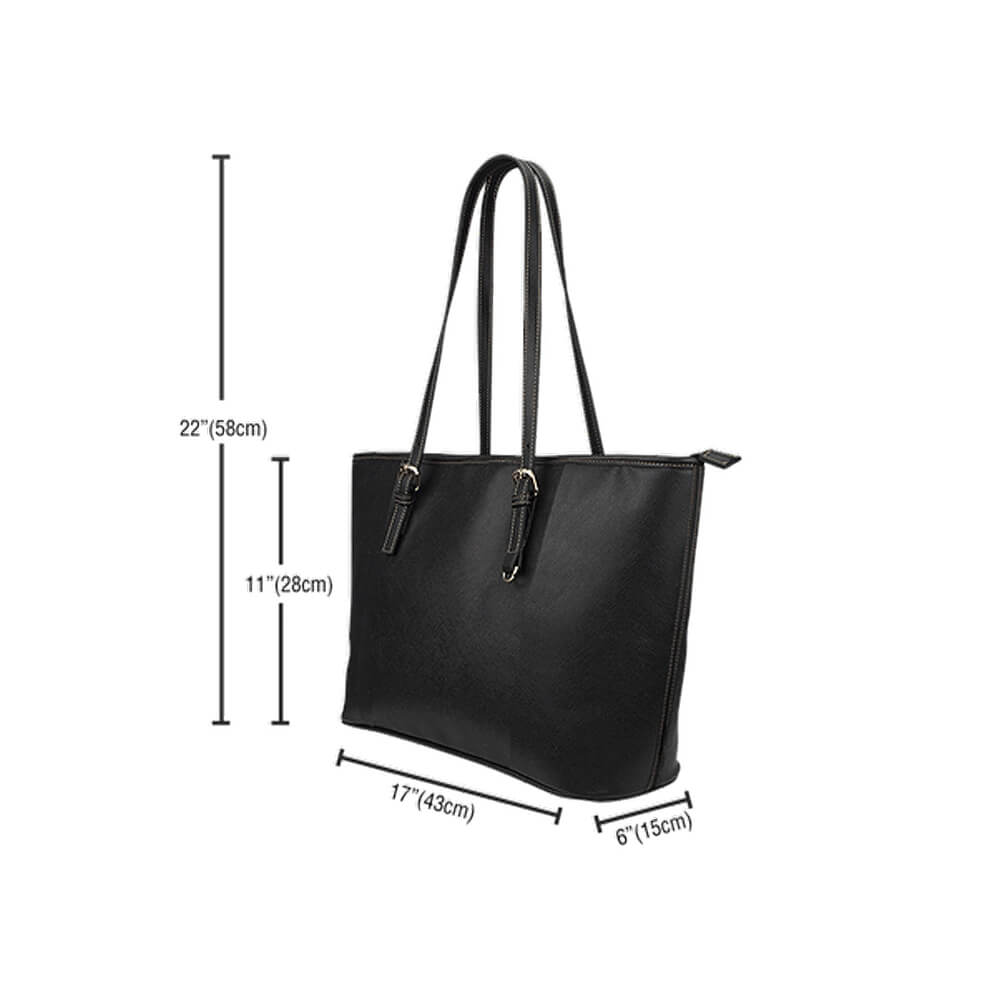 Schnauzer Leather Tote Bag - 24 Style