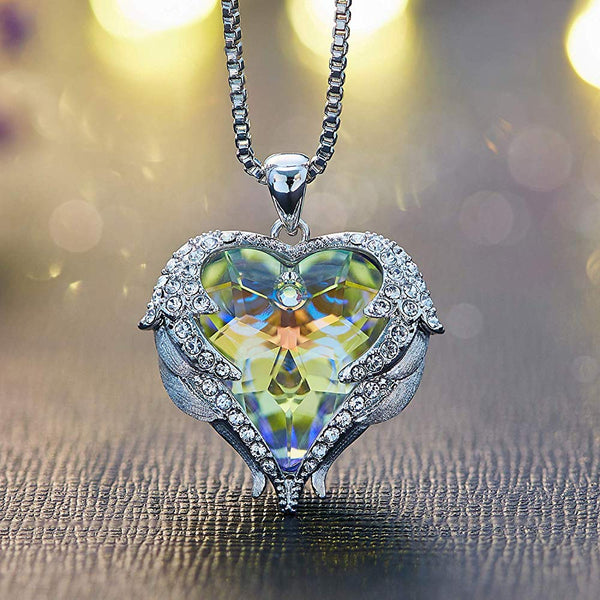 Aurora Heart & Wing Necklace - 24 Style