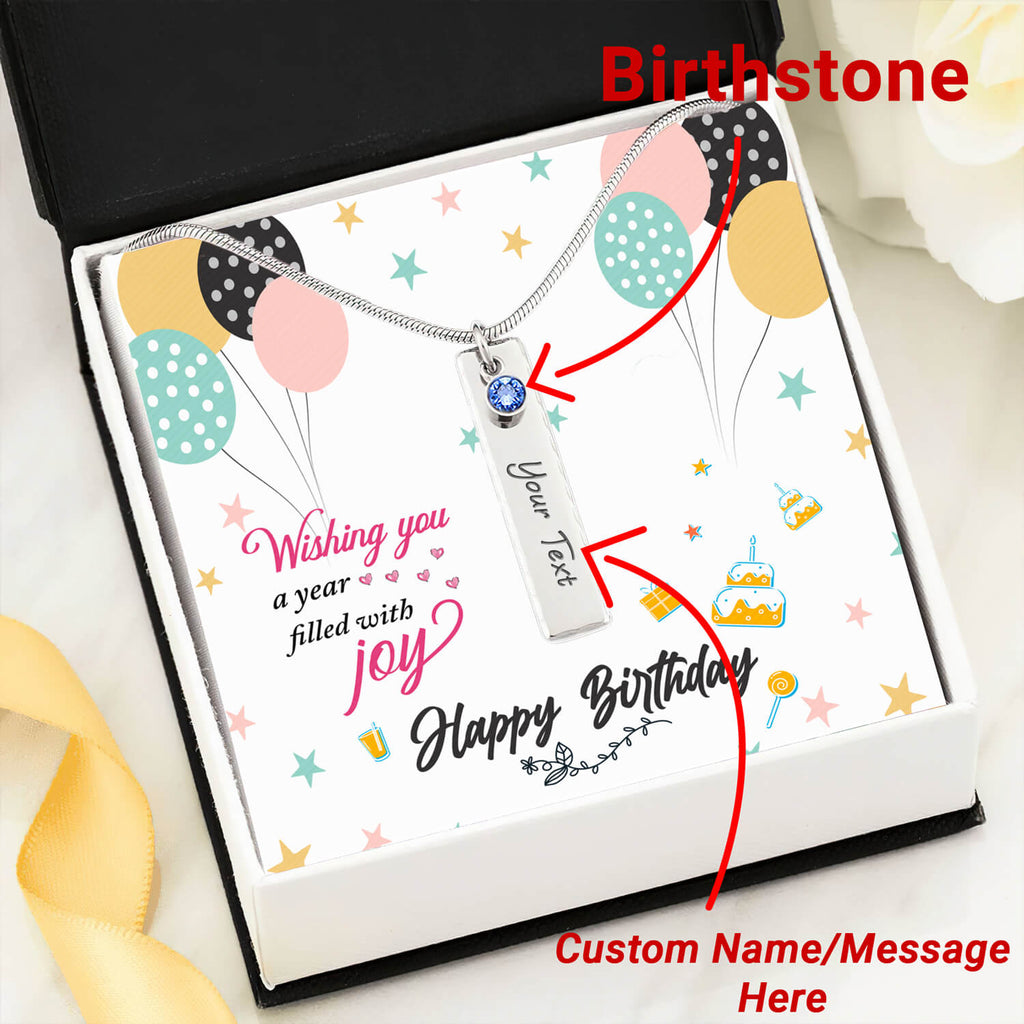 Personalized Birthday Necklace