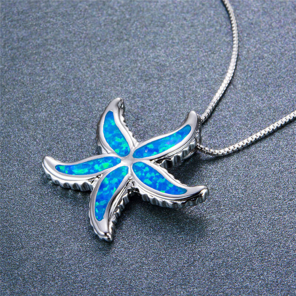 Blue Opal Starfish Necklace - 24 Style