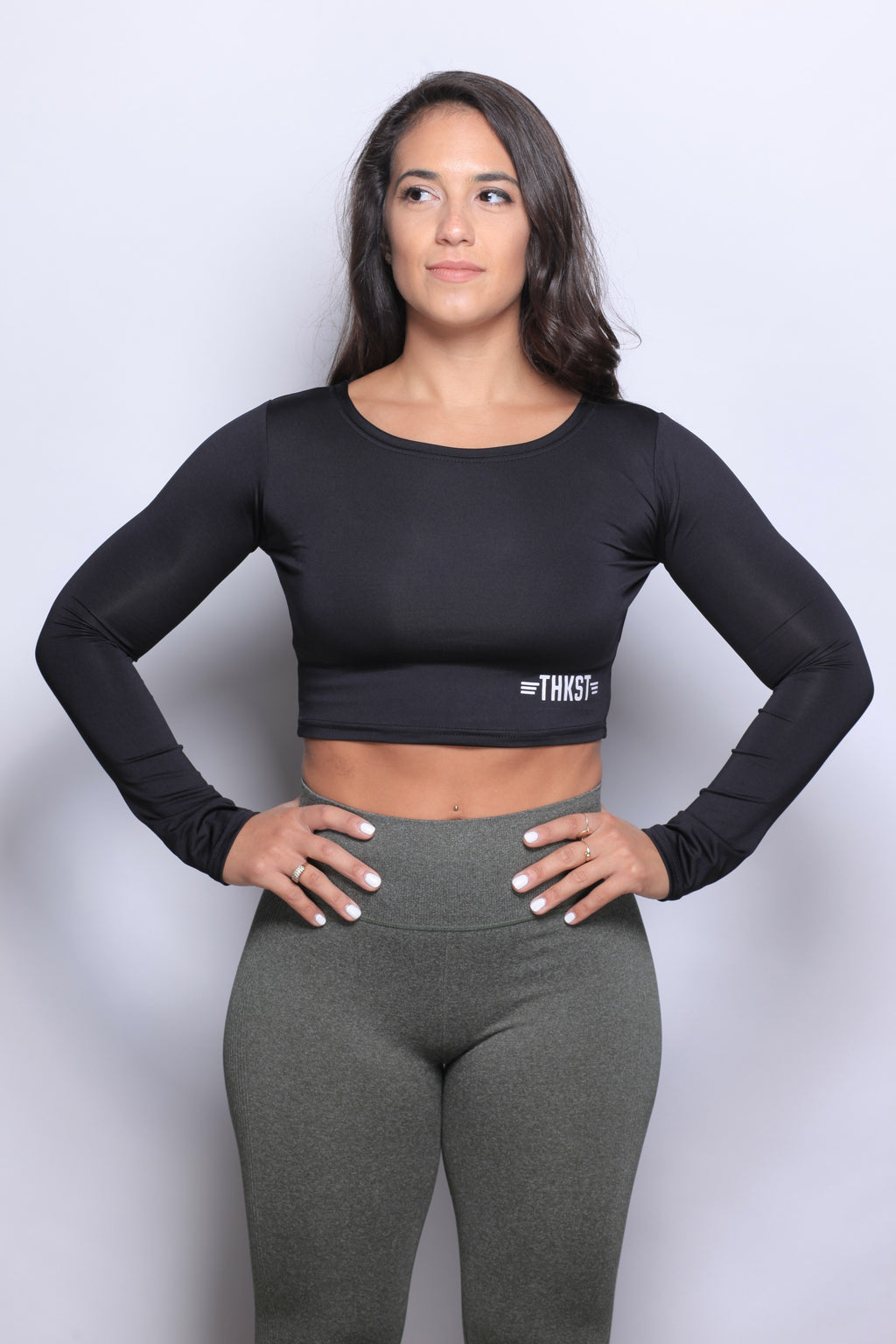 THKST Revelation Longsleeve Crop - Black