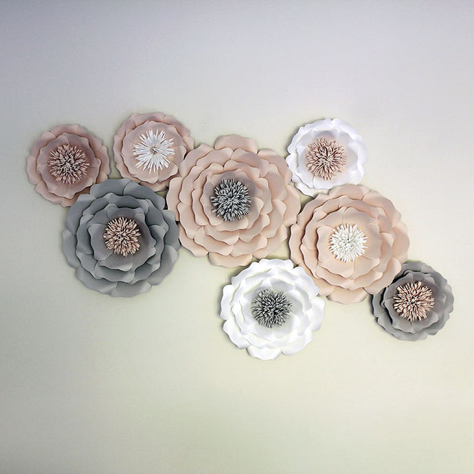 8 Piece English Rose Flower Set