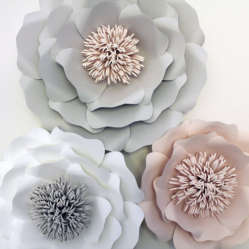 3 Piece English Rose Flower Set