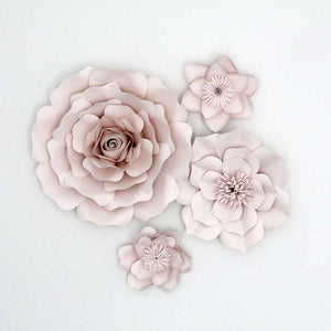 4 Piece Oversized Flower Set