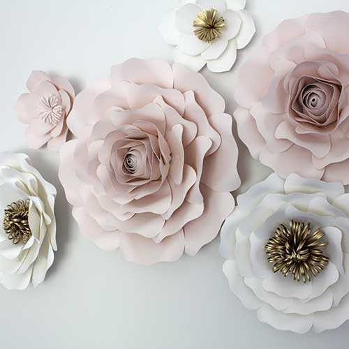 6 Piece Oversized Flower Set