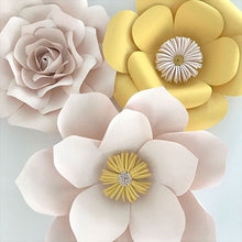 Paper flowers yellow and blush