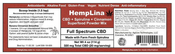 HempLina SuperFood Powder Mix (4 oz)
