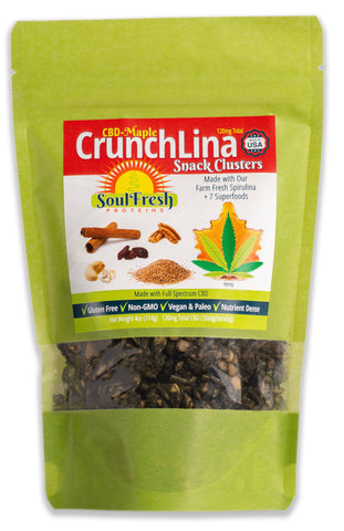 CBD Enriched CrunchLina Maple 2 oz (25 mg)