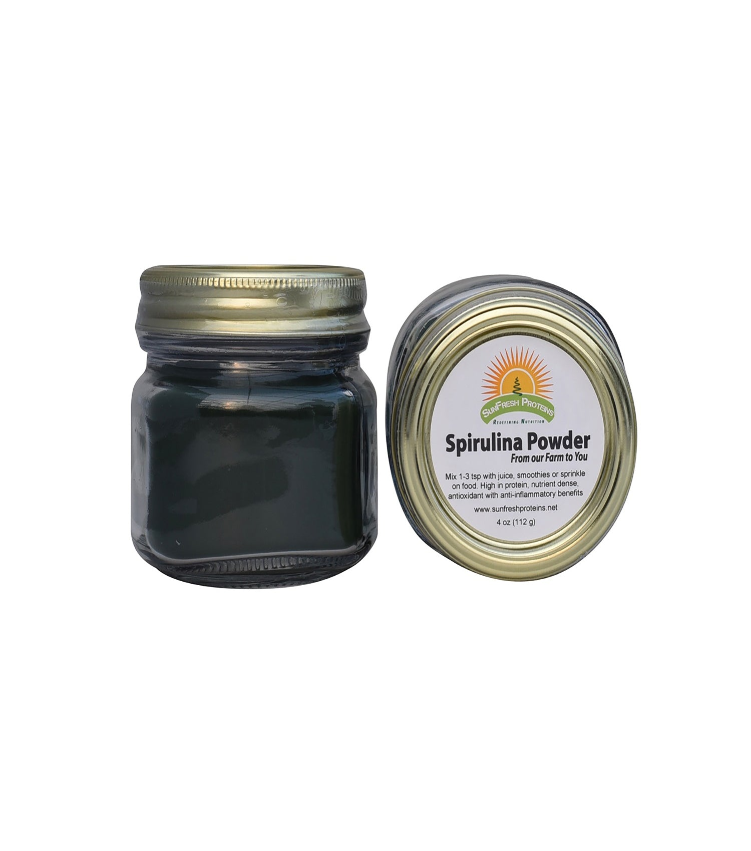 Premium Spirulina Powder Jar (4 oz)