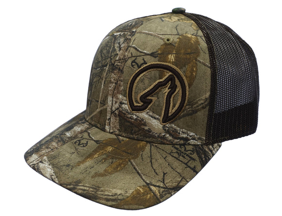 Coyote Country Trucker Hat in Realtree Camo