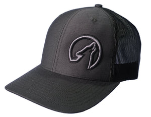 Coyote Country Trucker Hat Charcoal/Black
