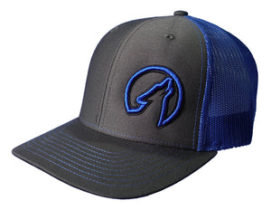 Coyote Country Trucker Hat Charcoal/Royal Blue