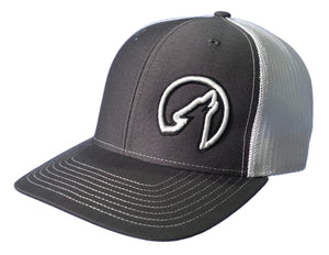 Coyote Country Trucker Hat Charcoal/White