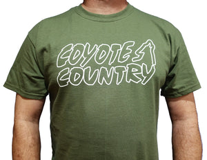 Coyote Country Logo T-Shirt Green