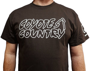 Coyote Country Logo T-Shirt Brown