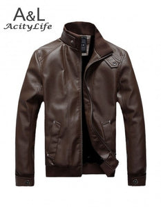 Winter Autumn High-grade Quality Leather Jacket