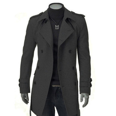 Men Thick Long Trench Coat Winter Jacket