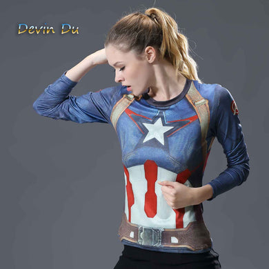 Women's Graphic Compression Fitness Shirts