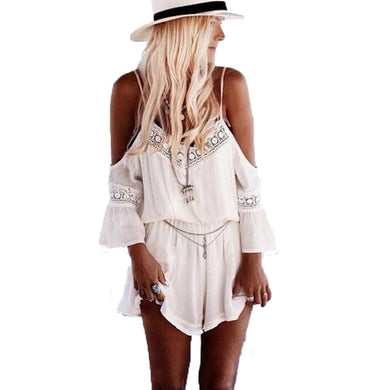 Womens Summer Lace Women Beach Rompers