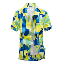 Mens Summer Front Buttons Down Short Sleeves