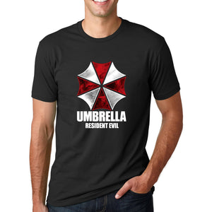 Men's   Graphic Umbrella Corp Printed Short Sleeve T Shirt