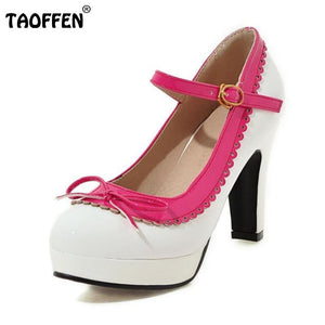 Women Ankle Strap High Heels Multiple Colors