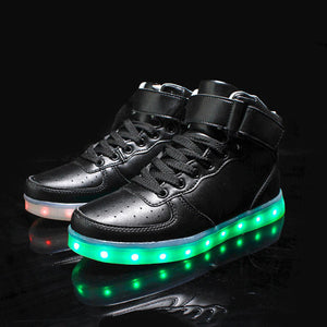Mens USB LED Light Shoes