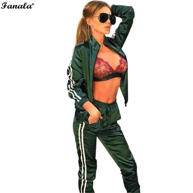 Womens Track Suit Two Piece Set