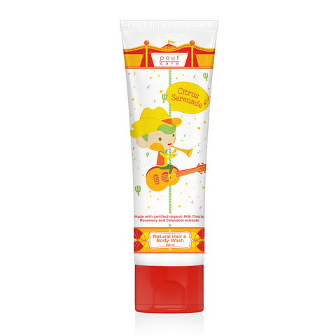 pout Care Citrus Serenade Natural Hair & Body Wash 250ml