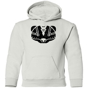 Black Distressed Emblem Hoodies for Kids (Skunk/Stinker)
