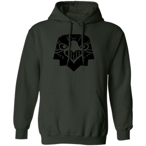 Black Distressed Emblem Hoodies for Adults (Eagle/Eagle-Eye)