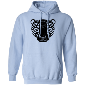 Black Distressed Emblem Hoodies for Adults (Cheetah/Poise)