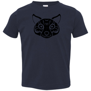 Black Distressed Emblem T-Shirt for Toddlers (Coyote/Coy)