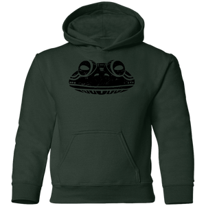 Black Distressed Emblem Hoodies for Kids (Frog/Hopalong)