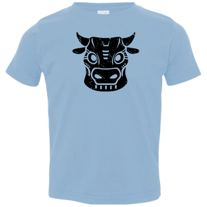Black Distressed Emblem T-Shirts for Toddlers (Cow/Ud) - Dark Corps