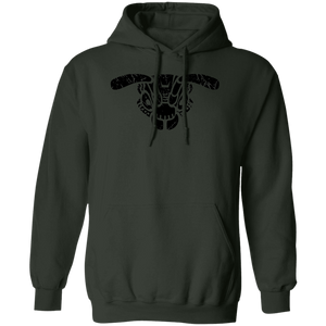 Black Distressed Emblem Hoodies for Adults (Hornet/Buzz Squadron)