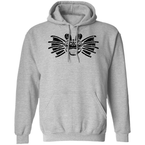 Black Distressed Emblem Hoodies for Adults (Dilophosaurus/Frill)