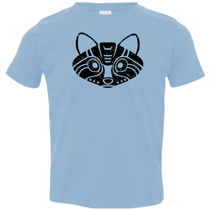 Black Distressed Emblem T-Shirts for Toddlers (Raccoon/Pilfer) - Dark Corps