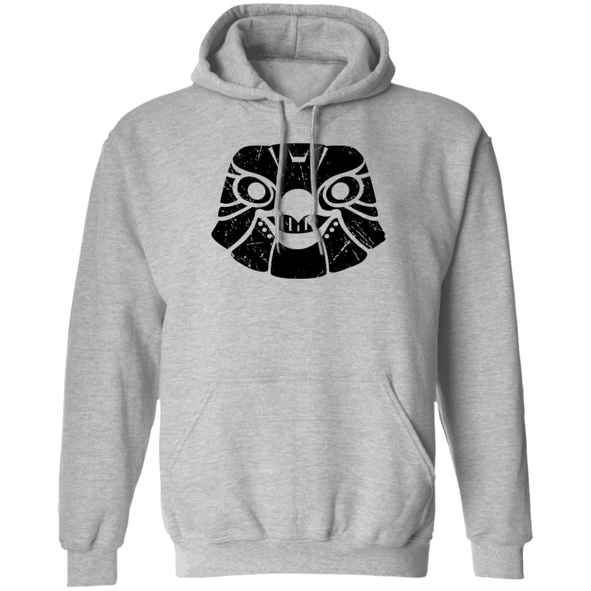 Black Distressed Emblem Hoodies for Adults (Falcon/Swift)