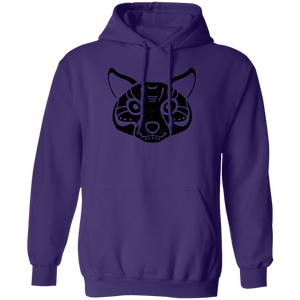 Black Distressed Emblem Hoodies for Adults (Coyote/Coy)