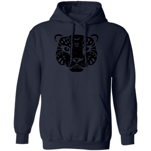 Black Distressed Emblem Hoodies for Adults (Snow Leopard/Denali)