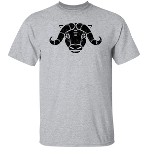 Black Distressed Emblem T-Shirt for Kids (Musk Ox/Moxie)
