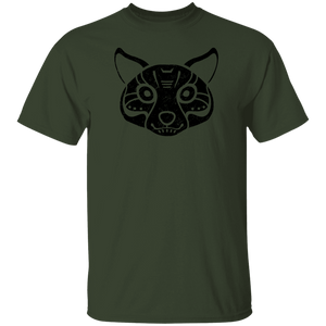 Black Distressed Emblem T-Shirt for Kids (Coyote/Coy)