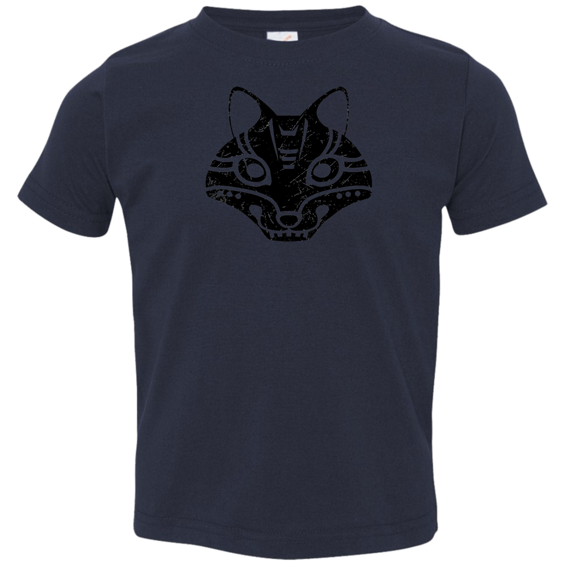 Black Distressed Emblem T-Shirts for Toddlers (Fox/Sly) - Dark Corps